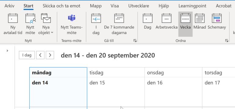 Outlook-kalender_Learningpoint
